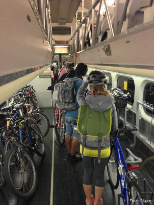 A bike car on Caltrain (Photo Credit: Steven Vance)
